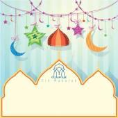 Islamic Greeting background for Eid Mubarak