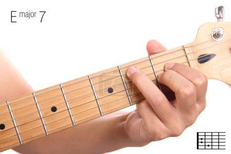 E major seventh guitar chord tutorial