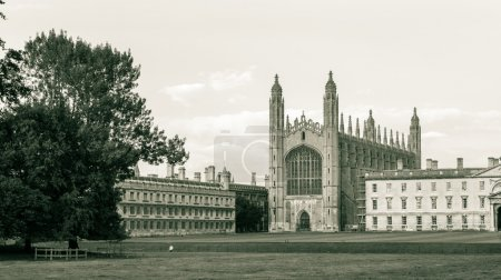Kings College Chapel, black and white photography