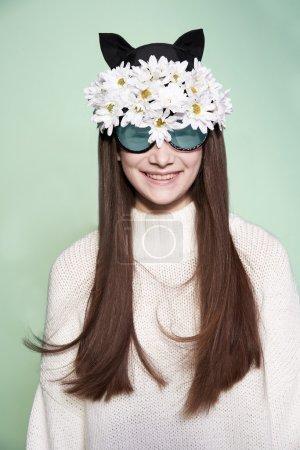 woman mask fashion beauty