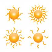 Set yellow symbol of sun