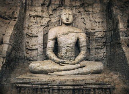 Bouddha dans Pollonaruwa, Sri Lanka