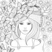 Vector hand drawn pattern for coloring book