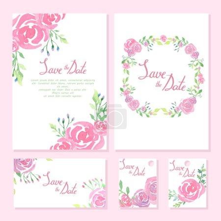 Wedding design collection. Invitation cards. watercolor design.