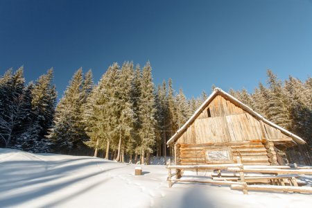 winter, mountains, home of the shepherds, chalets