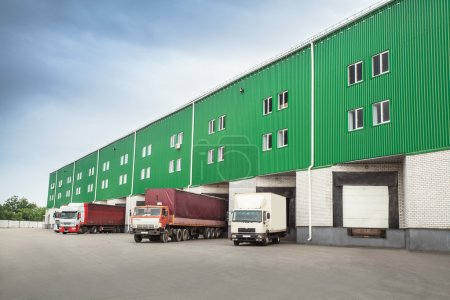 Photo for Trucks dock warehouse - Royalty Free Image