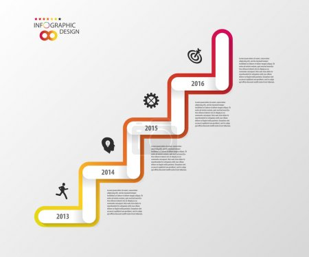 Modern business stair steps to success options. Infographic design