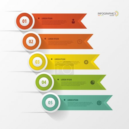 Infographic design template with icons. Banner. Vector