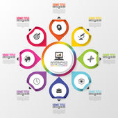 Infographic Business concept Colorful circle with icons Vector illustration