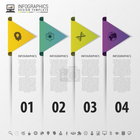 colorful arrows. infographic timeline concept. Modern design template. Vector illustration