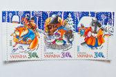 Uzhgorod, Ukrajina - cca květen, 2016: Sbírka poštovních známek