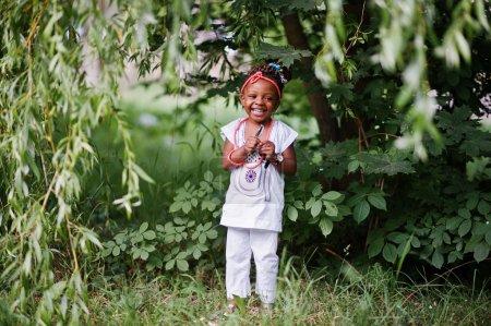 Amazing beautiful african american baby girl with sunglasses hav