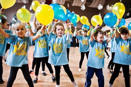 KYIV, UKRAINE- DECEMBER 27: Euro dance children party