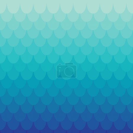 Illustration for Background in squama or tile style. Vector colored seamless pattern - Royalty Free Image