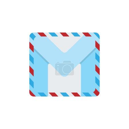 Illustration pour Lettre M sous forme de lettre postale. L'élément design est parfait pour les logos, les icônes, l'alphabet et le jeu des enfants . - image libre de droit