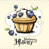 cartoon blueberry muffin