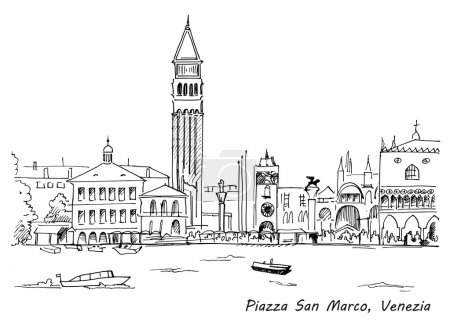 Piazza San Marco with Campanile and Doge Palace sk...