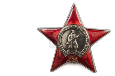 Photo pour Ordre de l'étoile rouge. isolé sur fond blanc. espace pour les inscriptions - image libre de droit