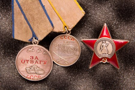 Military honors soldier of WW2, Soviet Union