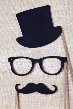 wedding props mustache and glasses