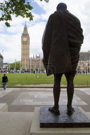Statue of Gandhi and Big