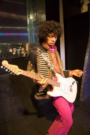 Jimi Hendrix in Madame Tussauds