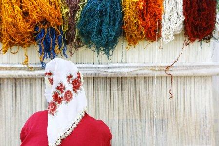 Woman  at loom, Turkey