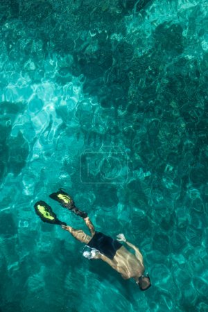 Snorkeler in Tropical Lagoon