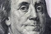Detail of U.S. one hundred dollar bill.