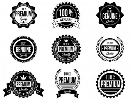 Clean and Modern Badges with a different style