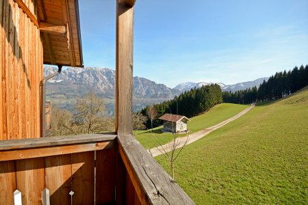 View over the lake Attersee - Farm holidays, Salzburger Land - Alps Austria