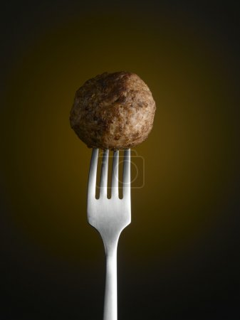 Photo for Meatball on fork - Royalty Free Image