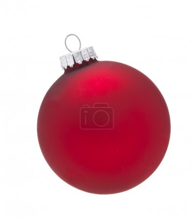 Red Bauble isolated