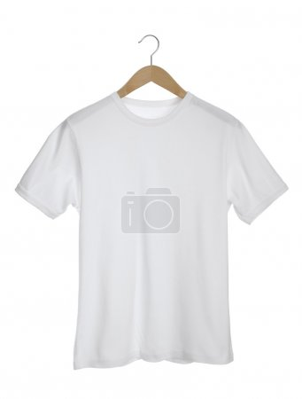 White T-shirt isolated on white