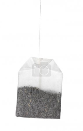Isolated tea bag on white