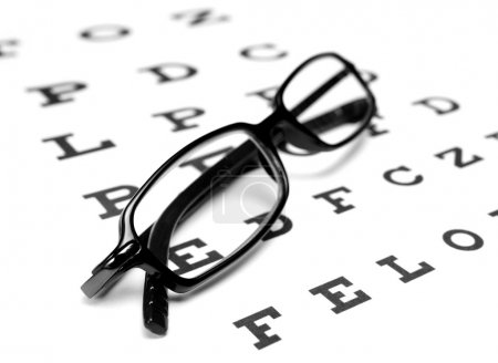 Reading Glasses and eye chart