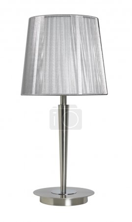 Photo for Silver lampshade isolated on white  background - Royalty Free Image