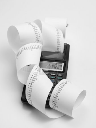 Calculator with roll