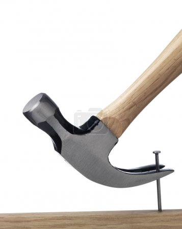 Isolated Hammer with Steel nail