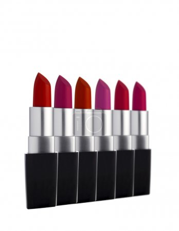 Lipsticks in a line