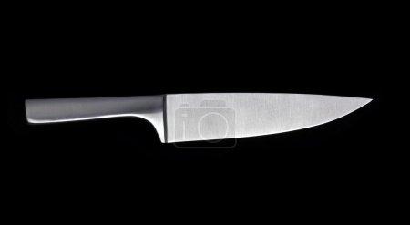 Photo for Kitchen Knife on black background - Royalty Free Image