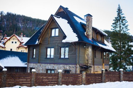 Big house in the Carpathian mountains