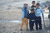 Lidé v uprchlickém táboře