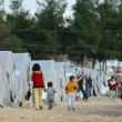 Syrian people in refugee camp in Suruc. These peop...
