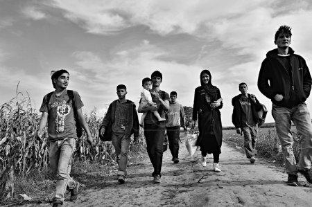 refugees in Sid (Serbian - Croatina border)