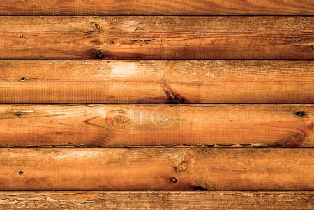 Log house beech wood with hammered a nails texture