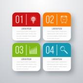 Vektorové ilustrace ze čtyř čtverečních infografika