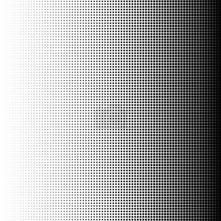 Vector illustration of Halftone squares....
