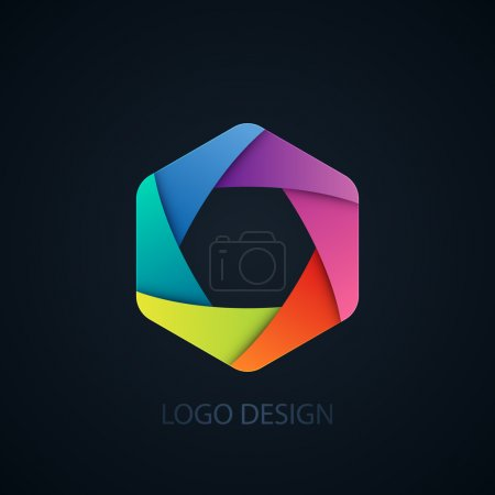 Illustration for Vector illustration of abstract business logo Photographer. - Royalty Free Image