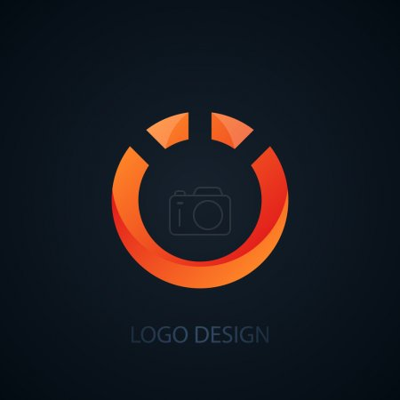Vector illustration of logo letter o